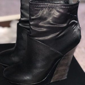 Elise ankle bootie wedges